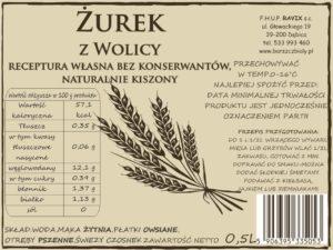 Żurek z Wolicy RAVIX Szkło 0.5L